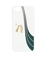 PUMA Unisex Off-White Printed iPhone 5 Phone Case