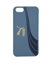 PUMA Unisex Blue Printed iPhone 5 Phone Case