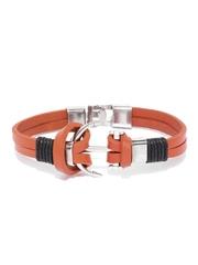 ToniQ Men Orange Dual-Stranded Bracelet