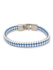 ToniQ Men Blue & White Bracelet
