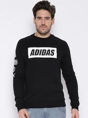 Adidas NEO Black Printed Sweatshirt