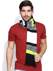 Adidas NEO Unisex Black & White Knit Muffler