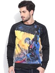 Superman Black Printed Sweatshirt