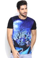 Batman Blue & Black Printed T-shirt