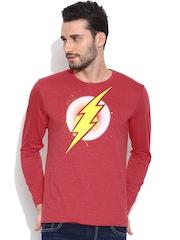 DC Comics Red Printed T-shirt