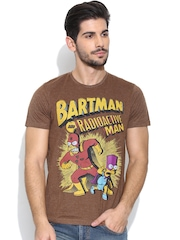 Simpsons Brown Printed T-shirt