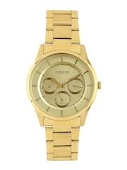 Citizen Men Muted Gold-Toned Dial Watch AG8352-59P