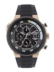 Citizen Men Eco-Drive Black Dial Chronograph Watch CA0448-08E