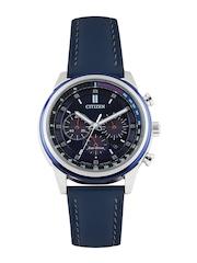 Citizen Men Eco-Drive Navy Dial Chronograph Watch CA4031-07L