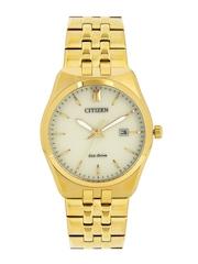 Citizen Men Eco-Drive Off-White Dial Watch BM7332-61P