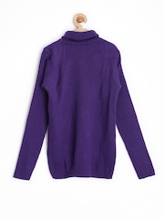 Juniors by Lifestyle Girls Purple Sweater