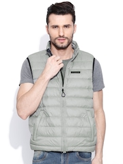 CAT Grey Padded Sleeveless Jacket