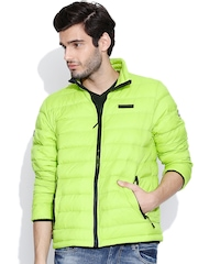 CAT Lime Green Padded Jacket
