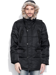 CAT Black Hooded Parka Jacket