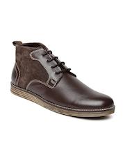 Numero Uno Men Brown Genuine Leather Boots