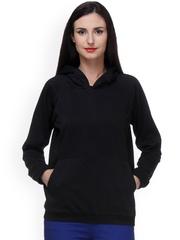 PURYS Black Hooded Sweatshirt