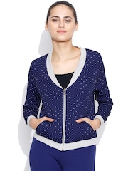 United Colors of Benetton Grey Melange & Navy Reversible Jacket
