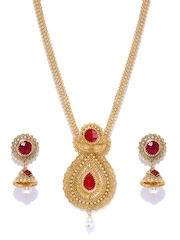 Zaveri Pearls Gold-Plated Beaded Jewellery Set