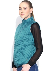 Numero Uno Teal Blue Sleeveless Jacket