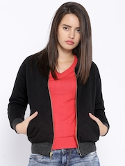 Numero Uno Black Quilted Jacket