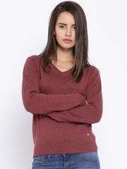 Numero Uno Wine-Coloured Sweater