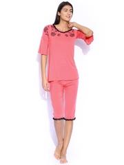 Enamor Coral Pink Night Suit G008