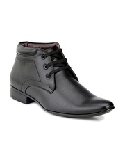 Mactree Men Black Leather Formal Shoes