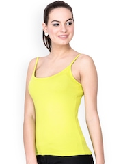 Le Bison Yellow Slim Fit Camisole WSPG1509905