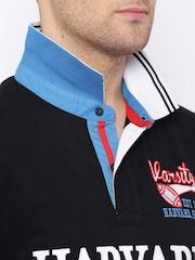 HARVARD Black Polo T-shirt
