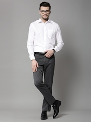 Marks & Spencer Grey Slim Formal Trousers