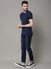 Marks & Spencer Navy Stay Soft Crew Neck T-shirt