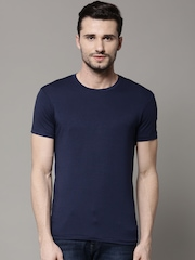Marks & Spencer Navy Stay Soft Crew Neck T-shirt