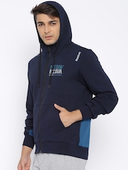 Reebok Navy SSG FZ Hooded Training Sweatshirt