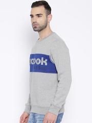 Reebok Classic Grey Melange 1 Printed Training Sweatshirt