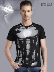 Iron Man by KNK Black Printed T-shirt