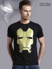 Iron Man Black Printed T-shirt