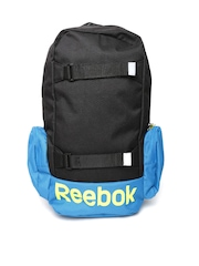 Reebok Unisex Black & Teal Blue BTS JUN Backpack