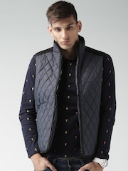 Mast & Harbour Navy Quilted Sleeveless Jacket
