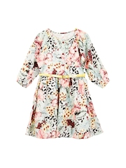Oye Girls Multicoloured Printed A-Line Dress
