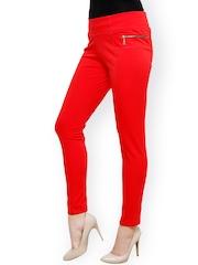 Westwood Red Slim Fit Treggings