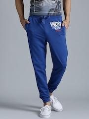 Kook N Keech Blue Printed Track Pants