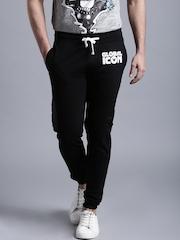 Kook N Keech Disney Black Printed Jogger Track Pants
