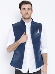 United Colors of Benetton Navy Denim Nehru Jacket