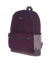 Bags.R.us Unisex Purple & Grey Backpack