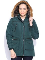 Fort Collins Teal Green Jacket with Detachable Hood