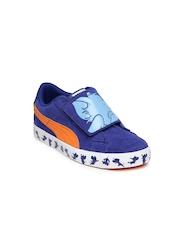 PUMA Kids Blue S Vulc Tom & Jerry Suede Casual Shoes
