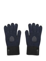 PUMA Unisex Blue & Grey Striped Ferrari Gloves