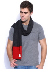 PUMA Charcoal Grey & Red Scarf