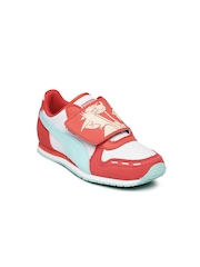 PUMA Kids Coral Pink & White Cabana Racer Tom & Jerry Casual Shoes
