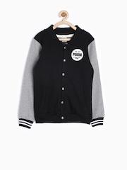 PUMA Boys Black Regular Fit Sweatshirt